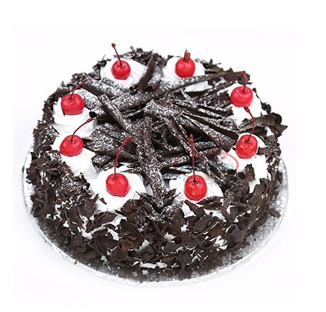 Black forest Cake with cherry Topping